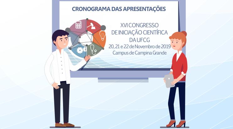 Comitê de organização divulga cronograma das apresentações do XVI Congresso de I.C da UFCG